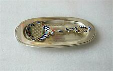 Art Nouveau Sterling Silver Bonbon Server Spoon Enamel Birks Tray Superb