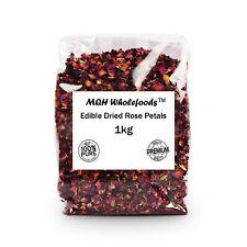 Rose Petals - Edible & Dried Premium Quality! Select Size 10g-1kg FREE P&P