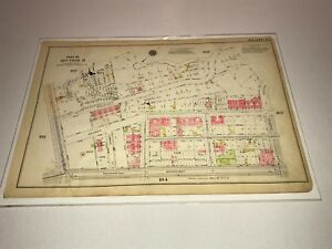 G.W. Bromley Map Plate 183 184 12 X 17 Inwood Upper Manhattan NY 1916
