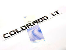1x OEM Black COLORADO LT Nameplate Alloy Letter Emblem COLORADO Chevrolet F2