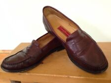 Cole Haan Burgundy Leather Preppy Dress Shoe Slip On Penny Loafer Mens 11M 45