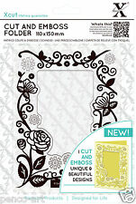 Xcut A6 Cut and Emboss combination die cutting & embossing folder FLORAL FRAME