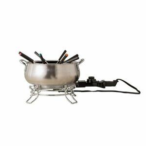 Cuisinart Electric Fondue Set Brushed Stainless Steel 3 Qt CFO-3SSFR NEW