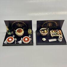 Reutter Porcelain Miniature Dollhouse Ristorante Set AND Japanese Sushi Set 1:12
