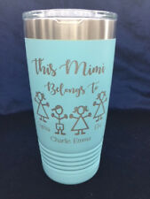 Customized Personalized 20 oz. Insulated Tumbler for Grandmother Grandfather Dad
