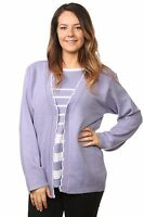 New Ladies Knitted Twinsets Long Sleeve Acrylic Cardigans Jumpers Tops Plus Size