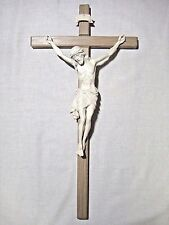 "21"" Hand Carved Wood Crucifix, Hand made in Italy, Woodcarved Christian Gift"