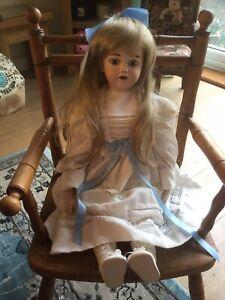 """Vintage 24"""" 61cm Antique Reproduction Doll Beautiful! Simon & Halbig 1248 #"""