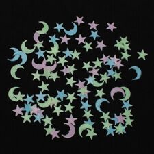 100Pcs Star Moon Glow In The Dark Luminous Ceiling Wall Sticker Kid's Room Decor