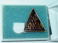 GALAXY LITE VINTAGE DEF LEPPARD 1980's HEAVY METAL PIN w/NEW BATTERY NOS NICE!