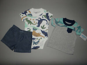 NWT, Baby boy clothes, 12 months, Carter's Dino short set/  ~SEE DETAILS ON SIZE