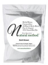 Natural Method  Hair Color, 100% Natural & Chemical Free Henna Dye DARK BROWN