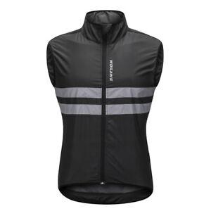 Cycling Reflective Vest/Coat Windproof Sleeveless Bike Jersey Sportswear Tops