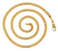 Luxus Goldkette Herren Damen 5mm Halskette Echt 999er Gold 24K vergoldet 60 cm