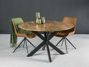 Dining Room Table Kitchen Table Oslo Solid Acacia Wood 130 CM X 76 CM