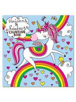 Unicorn and Rainbow Square Children's Colouring Book by Rachel Ellen Girl Gift