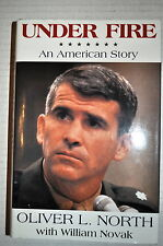 UNDER FIRE OLIVER NORTH SIGNED AUTOGRAPH FIRST EDITION BOOK DJ JSA COA