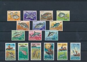 LN31579 Tokelau fish shell coral sealife fine lot MNH
