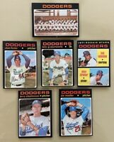 1971 Topps Dodgers lot (10) Wes Parker + Bobby Valentine Rookie NM