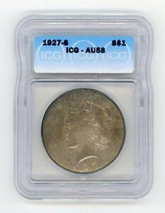 1927-S Peace  Dollar ICG AU 58