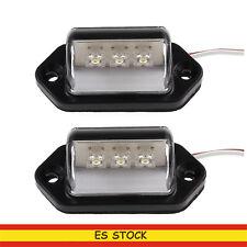 2x Luces de Placa de Matrícula LEDs Lámparas Traseras para Coche Remolque Camión