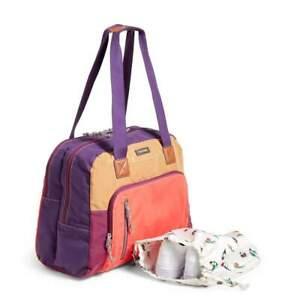 Vera Bradley Hot Lava LOT Go Anywhere Lighten Up Travel carryon Bag &RFID Wallet