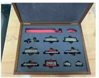 Z Panzer 1:220 Scale K5 Military Train Cars, 11 Piece Set in Wooden Case SPECIAL