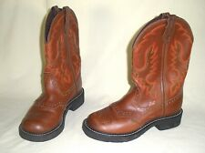 Justin Women's L9922 Gypsy Boots, Round Toe, Brown Leather, Size 6 1/2 B EUC