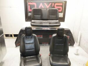 2015 Chevy Camaro SS Front and Rear Black Leather Seats OEM