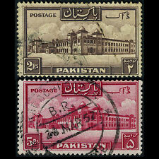 PAKISTAN 1948-57 2R & 5R Perf 13.5. SG 39a-40a. Used. (AR271)