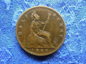 UK 1/2 PENNY 1869, KM748.2