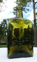 "TUMBLED - BEAUTIFUL ANTIQUE GAELIC ""OLD SMUGGLER"" WHISKEY BOTTLE!! CRUDE! HEAVY!"