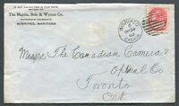 "CANADA #77 ""NUMERAL"" COVER ""WINNIPEG"" DUPLEX CANCEL"