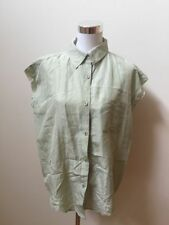 Silk Blend Button Down Shirt Dry-clean Only Tops & Blouses for Women