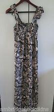 Dotti Long Summer Dress Size 10 Paisley Print Ruffle Straps Summer Fashion