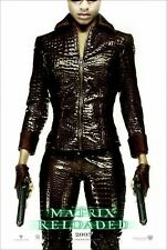 THE MATRIX RELOADED NIOBE Original Advance Double Sided Movie Poster 27x40 - D