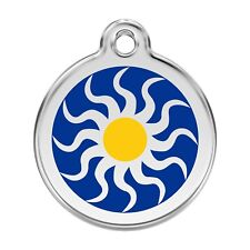 Red Dingo Dog Cat Pet ID Tag Charm FREE Personalized Engraving TRIBAL SUN