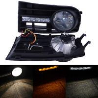LED FOG DRL DAYTIME RUNNING LIGHTS LAMPS GRILLE SET FOR VW GOLF MK5 5 2005-2009