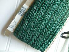 12 Yds Vintage Dark Pine Green Upholstery Trim Gimp 1/2 in wide