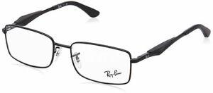 Ray Ban Matte Black Optical Eyeglasses RX6284 2503  55mm