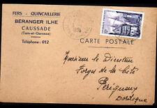 "CAUSSADE (82) QUINCAILLERIE ""BERANGER ILHE"" Carte postale Entreprise en 1955"