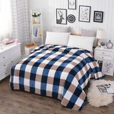 Plaid Soft Blanket For Travel Home Bedding Winter Warm Bed Sheet Covers Portable