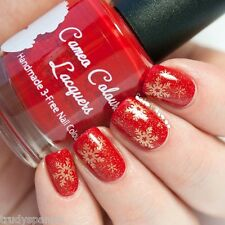 Christmas Nail Art Stickers Decals Transfers Gold Snowflakes (106)