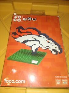 Denver Broncos 3D Logo 473 Piece Puzzle BRXLZ NFL NEW