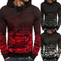 Fashion Men's Winter Warm Hoodie Hooded Camouflage Sweatshirt Pullover Coat Tops