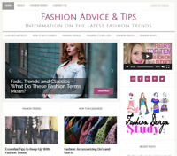 * FASHION TIPS * blog niche website business for sale w/ AUTO UPDATING CONTENT!