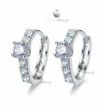White Gold Plated Amethyst Fashion Earrings