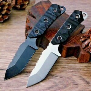 """Serrated Drop Point Knife Fixed Blade Hunting Tactical Combat Wild G10 Handle 3"""""""
