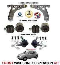 FOR VW LUPO 1999-> FRONT 2 WISHBONE ARMS 2 LINK BARS 2 BALL JOINT SUSPENSION KIT