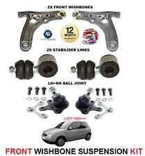 Per VW Lupo 1999 - > ANTERIORE 2 braccio oscillante Arms 2 Barre Di Collegamento Giunto Sferico 2 kit di sospensione